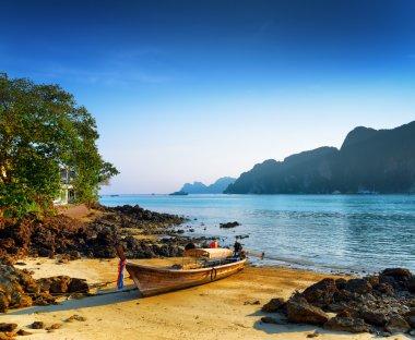 Tropical landscape. Beach of Phi Phi Island, Thailand