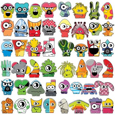 Monsters stock vector