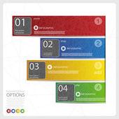 čtyři infografiky možnosti nápis