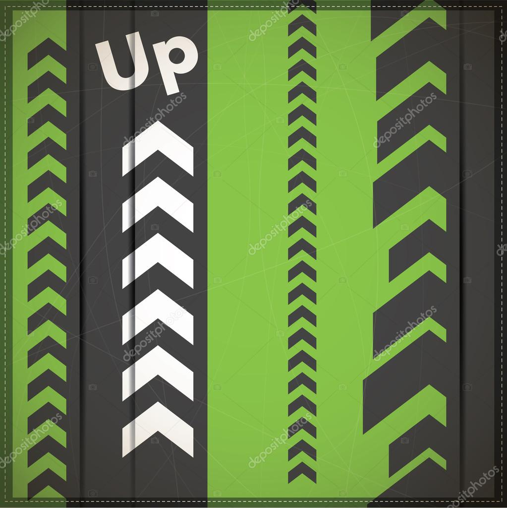 Abstract arrow up background - vector