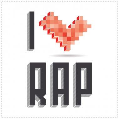 I love rap on white backround
