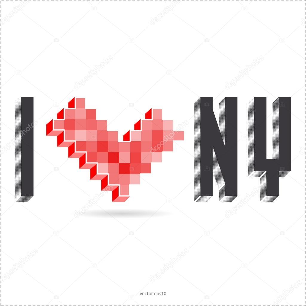 I Love New York Stock Vector Aleabievsasha 26730307