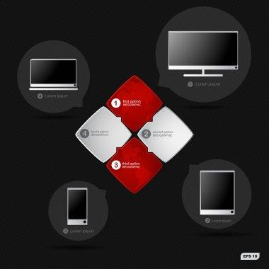 Infographics options banners informatics technologies