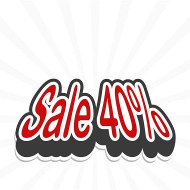 Sale tag. vector