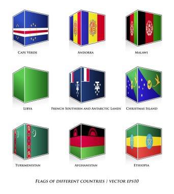 Set of nine flags