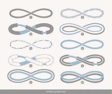 Set of ten limitless icon