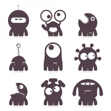 Set of cute monsters. vector