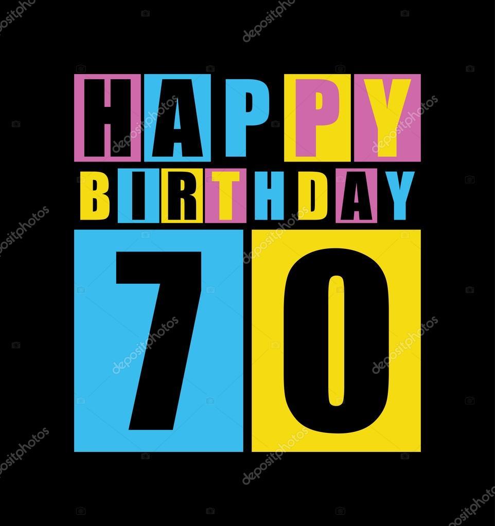 Uitzonderlijk Retro gelukkige verjaardagskaart. Gelukkige verjaardag 70 jaar  AV-26