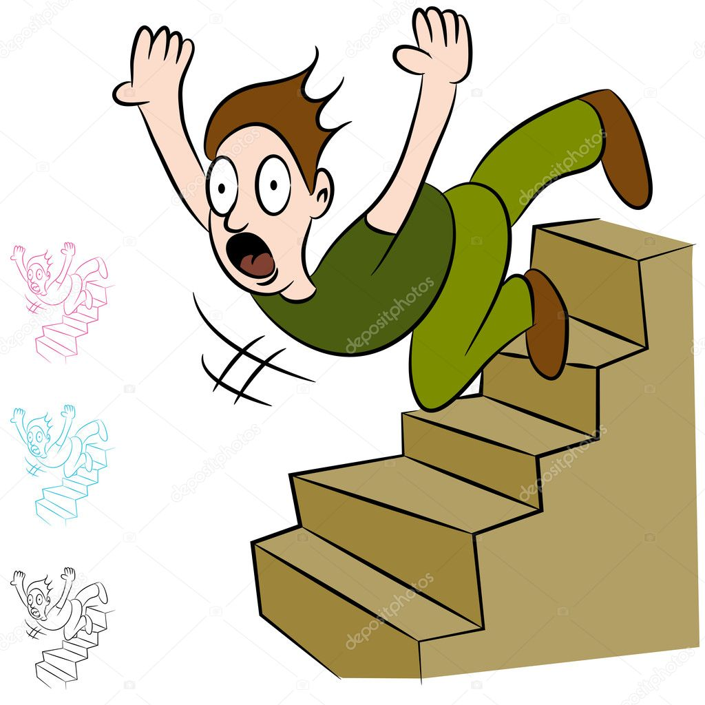 239 Falling down stairs Vector Images - Free & Royalty-free Falling down  stairs Vectors | Depositphotos®