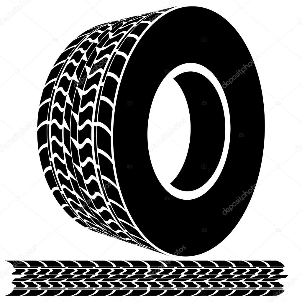 Tire Tread and Tracks — Stock Vector © cteconsulting #44840679