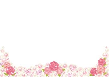 Rose pearl frame