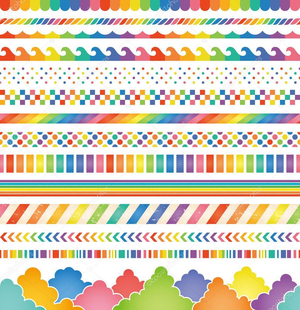 rainbow colored decorations.