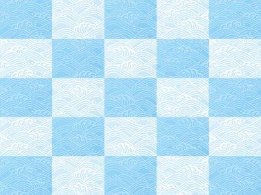 Seamless ocean wave pattern