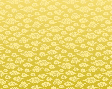 Chinese cloud seamless background. golden pattern. stock vector