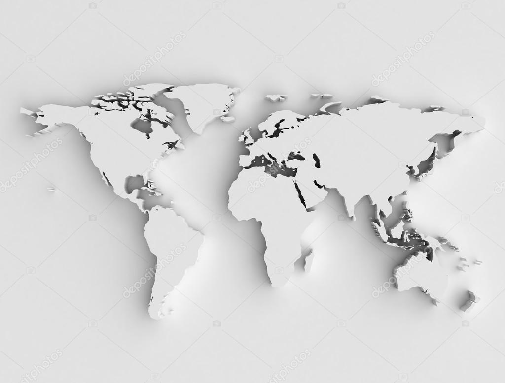 world map silver 3d illustration photo by jezper