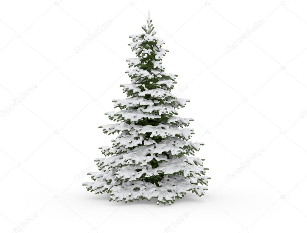 christmas tree on a white background — Stock Photo © Jezper #34782375