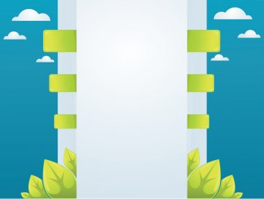 Web interface in ecology style clip art vector