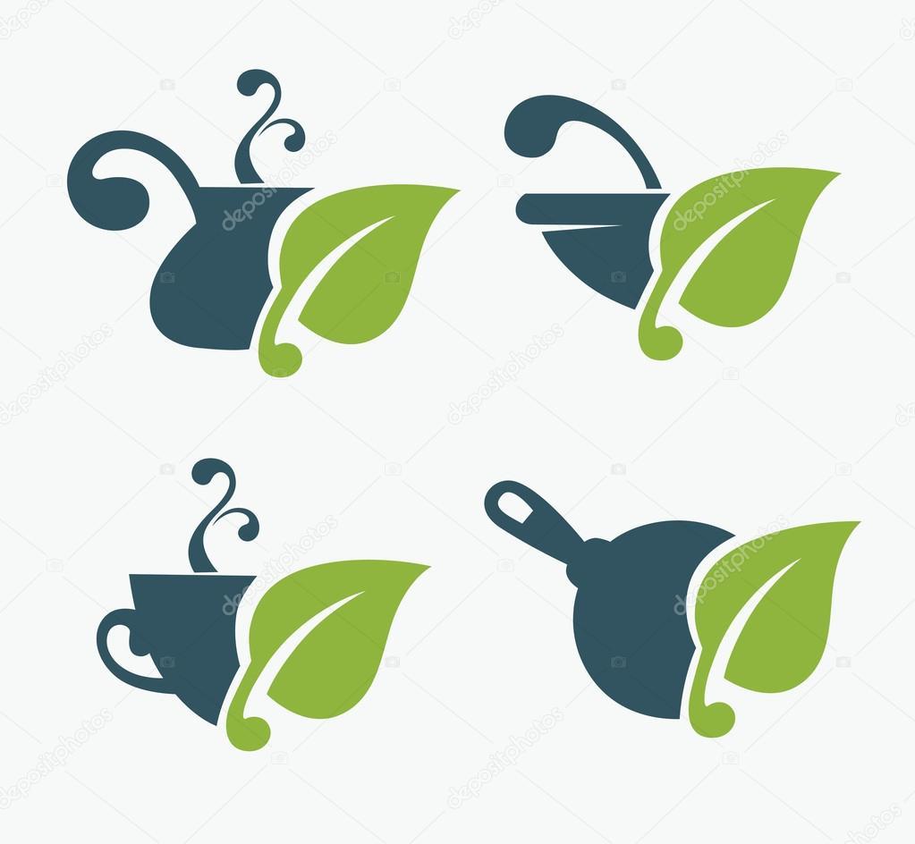 Healthy organic food symbols
