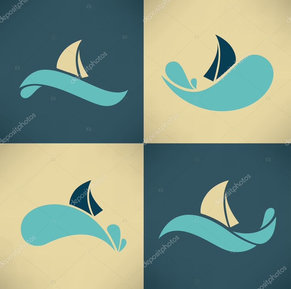 holiday on water, vector collection