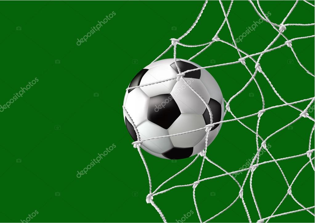 Bola na rede objetivo vetor de stock katsov 18391799 bola na rede objetivo vetor de stock stopboris Choice Image