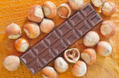 Fotografie Chocolate with nuts