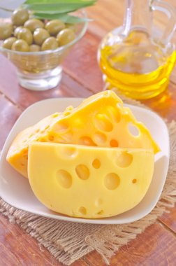 Cheese on the plate