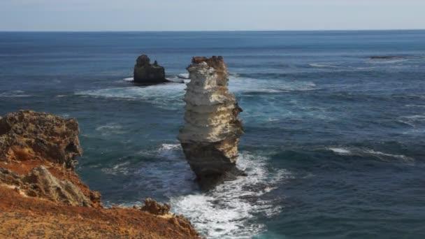 Coastline with monuments
