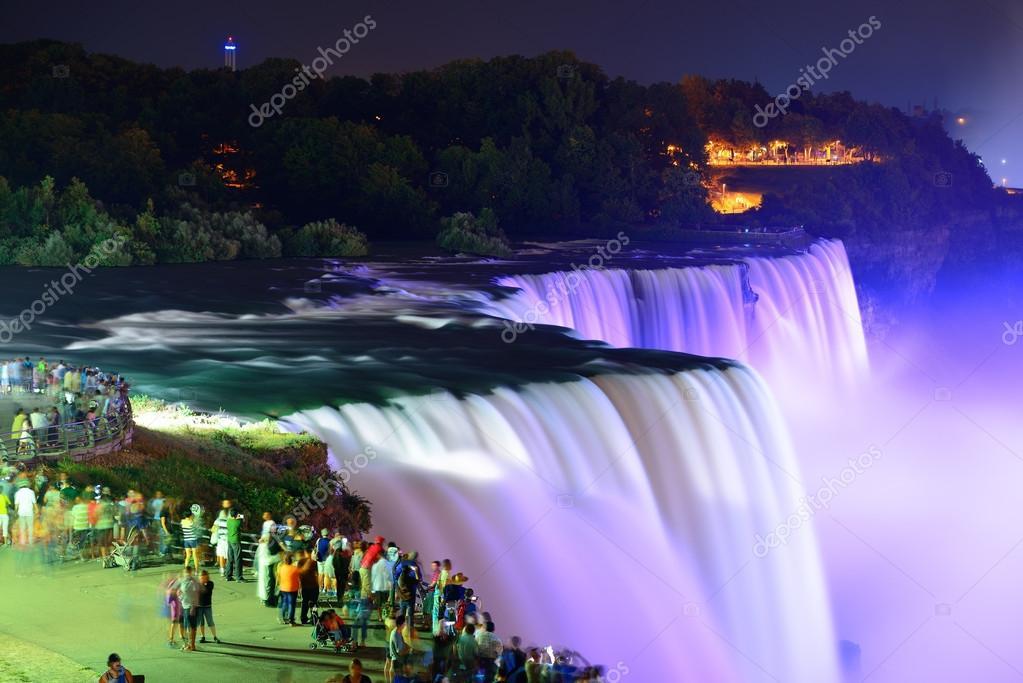 Фотообои Niagara Falls at night