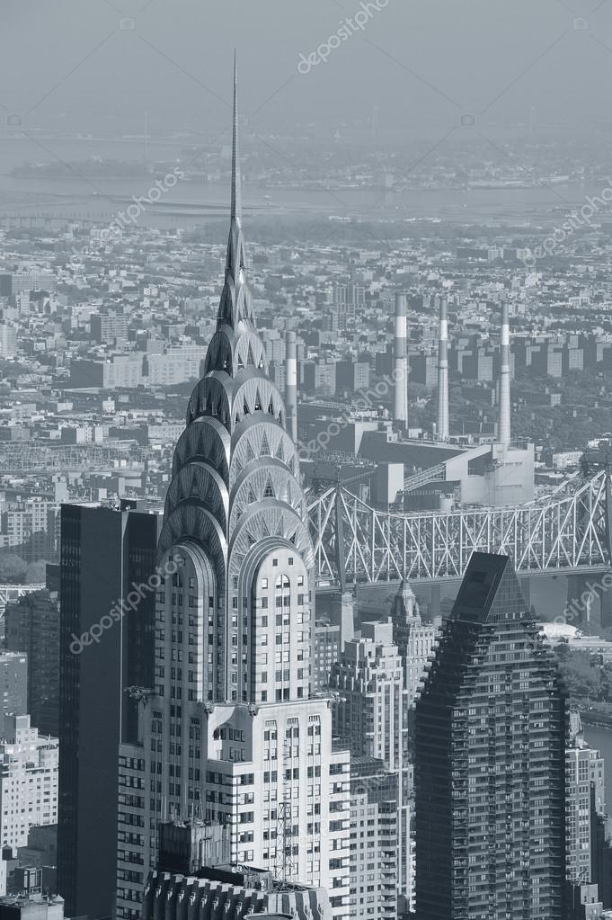 Chrysler Building Black And White Stock Photo