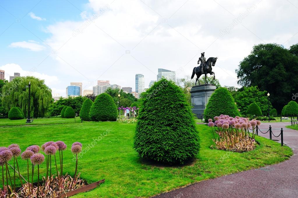 Boston Common Park And Skyline U2014 Stock Photo