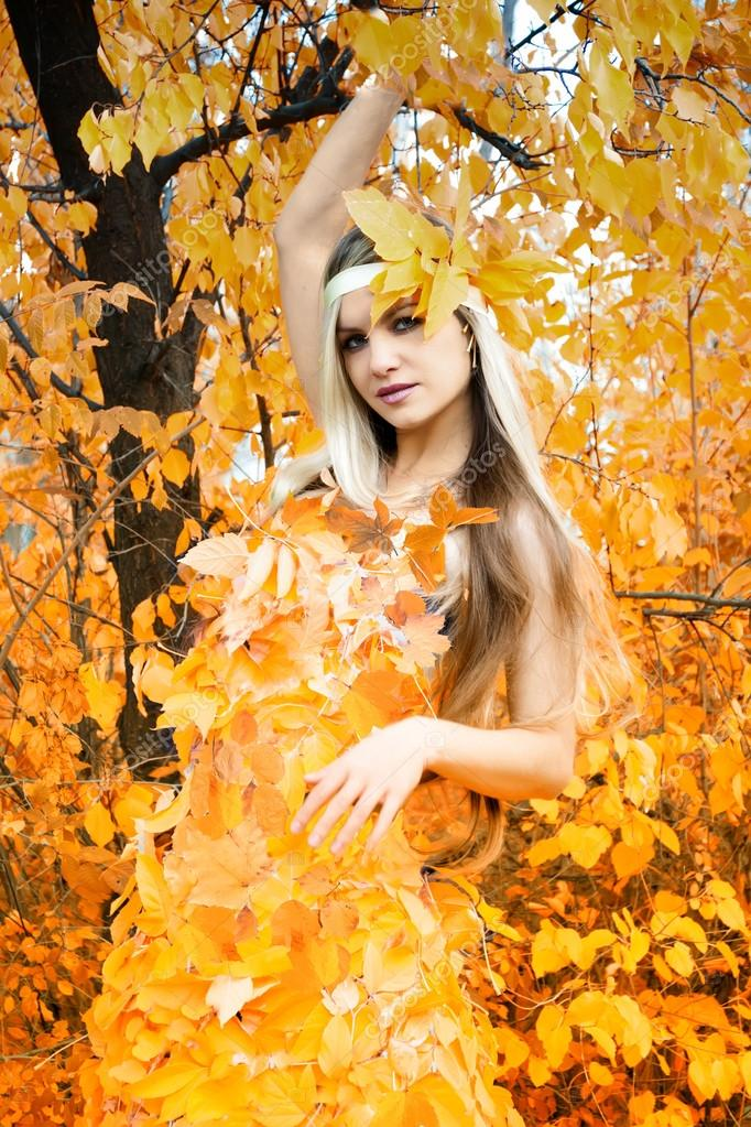 It is dressed at autumn