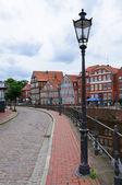 Fotografie die Altstadt und den alten Hafen von Stade, Deutschland