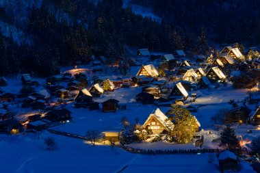 Historic Village of Shirakawa-go in winter