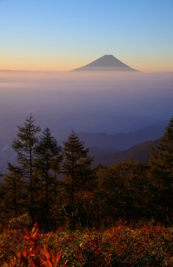 Mt.Fuji and Sea of clouds in the early morning