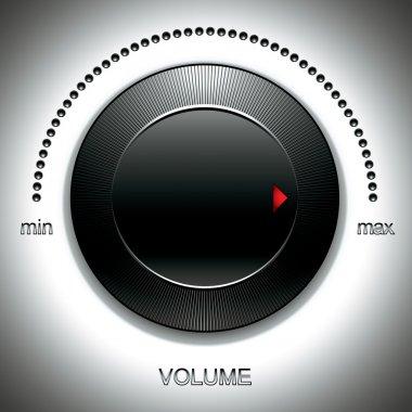 Big black volume knob.