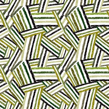 Abstract hand drawn lines seamless pattern.
