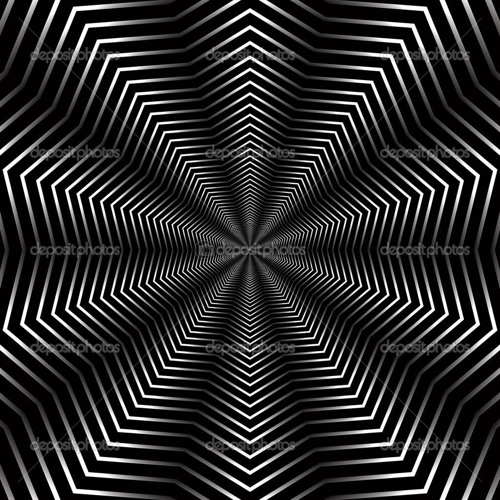 Fondo Abstracto Con Elementos Geométricos Infinitos Vector De