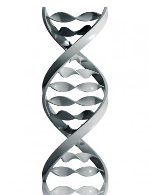 DNA icon isolated on white background.