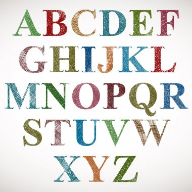 Vintage style alphabet.