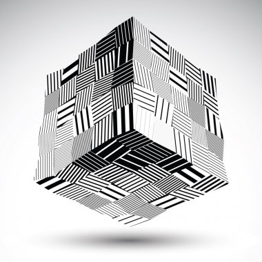 Undulate squared eps8 contrast object with black parallel lines.