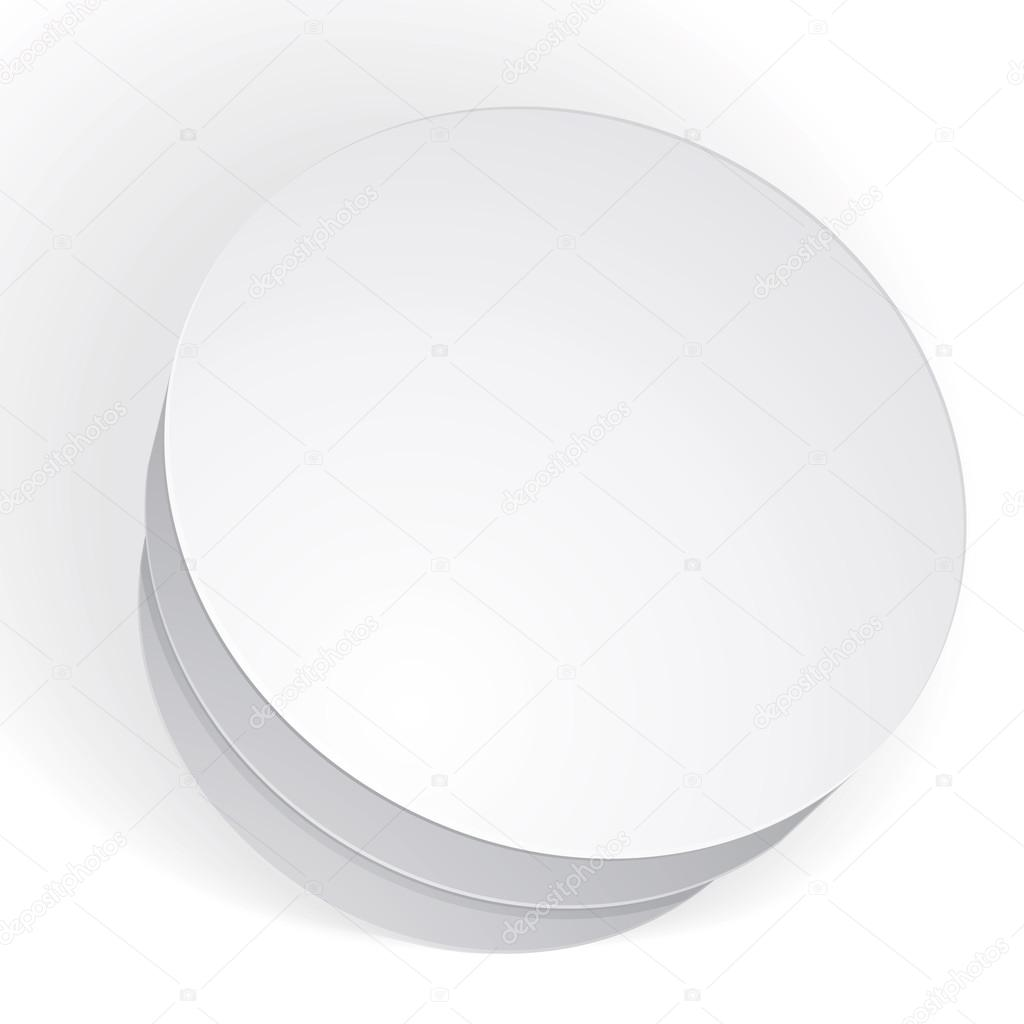 Vector Blank Round Box Isolated On White Background Template Fo