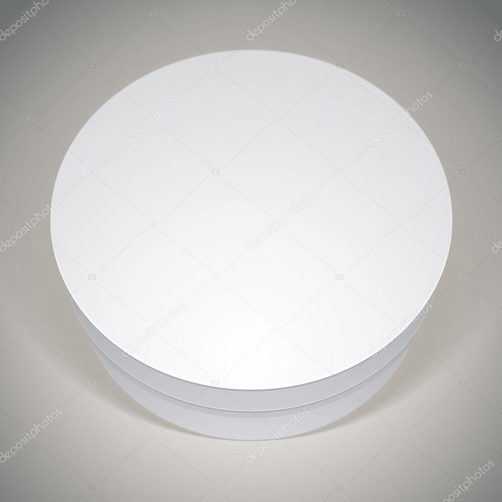 Vector blank round box template for your package design put yo vector blank round box template for your package design put yo stock vector pronofoot35fo Images