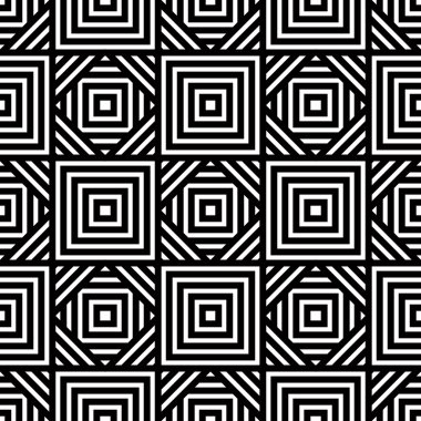 Seamless black and white geometric pattern, simple vector backgr