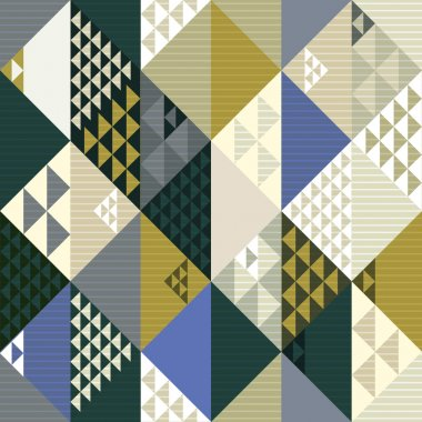 Abstract retro style geometric seamless background, seamless pat
