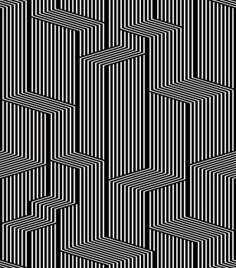 Optical lines seamless pattern, city black and white simple geom