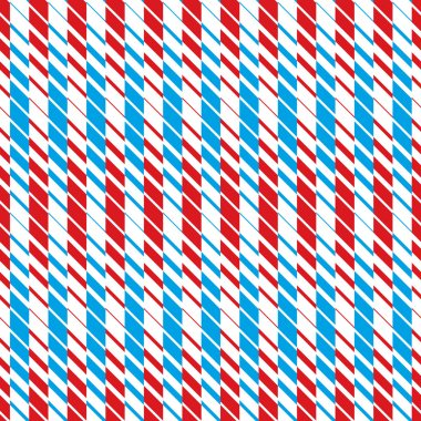 Red and blue lines seamless pattern, geometric simple vector bac