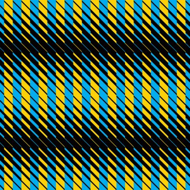 Yellow and blue lines seamless pattern.