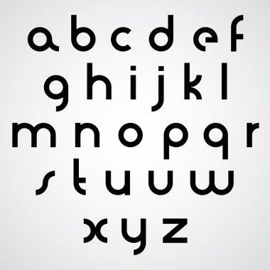 Vector alphabet, modern style simplistic font.