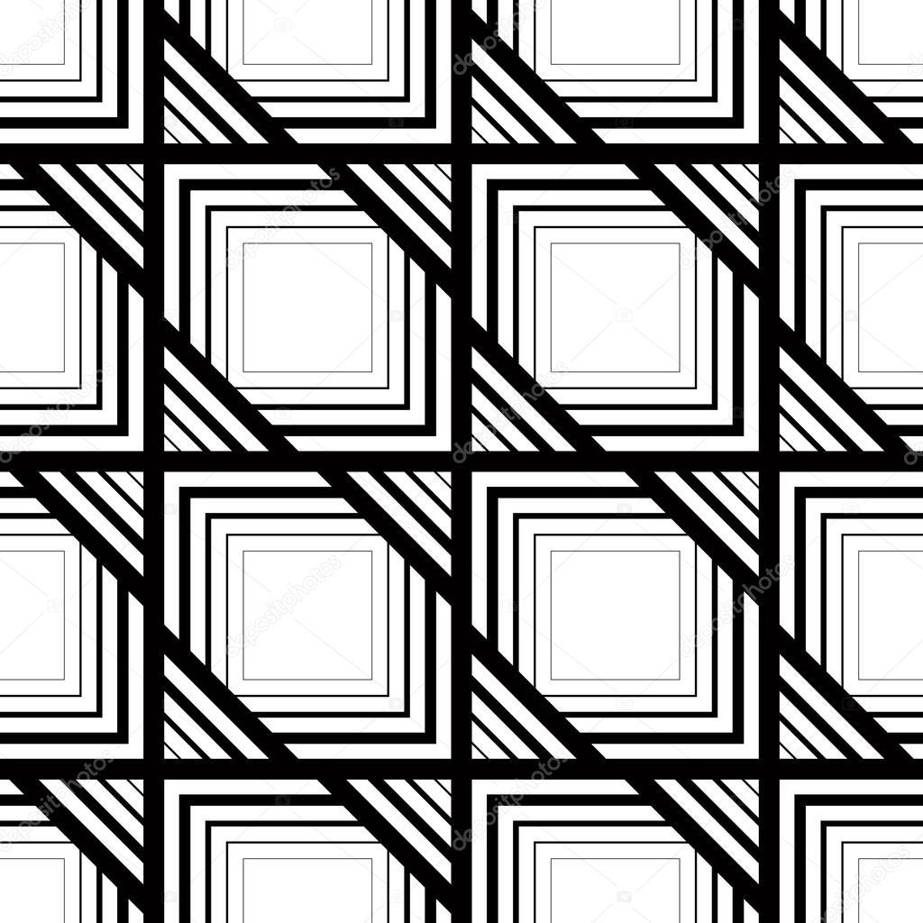 patrón blanco y negro sin costura, simple vector rayas geometri ...