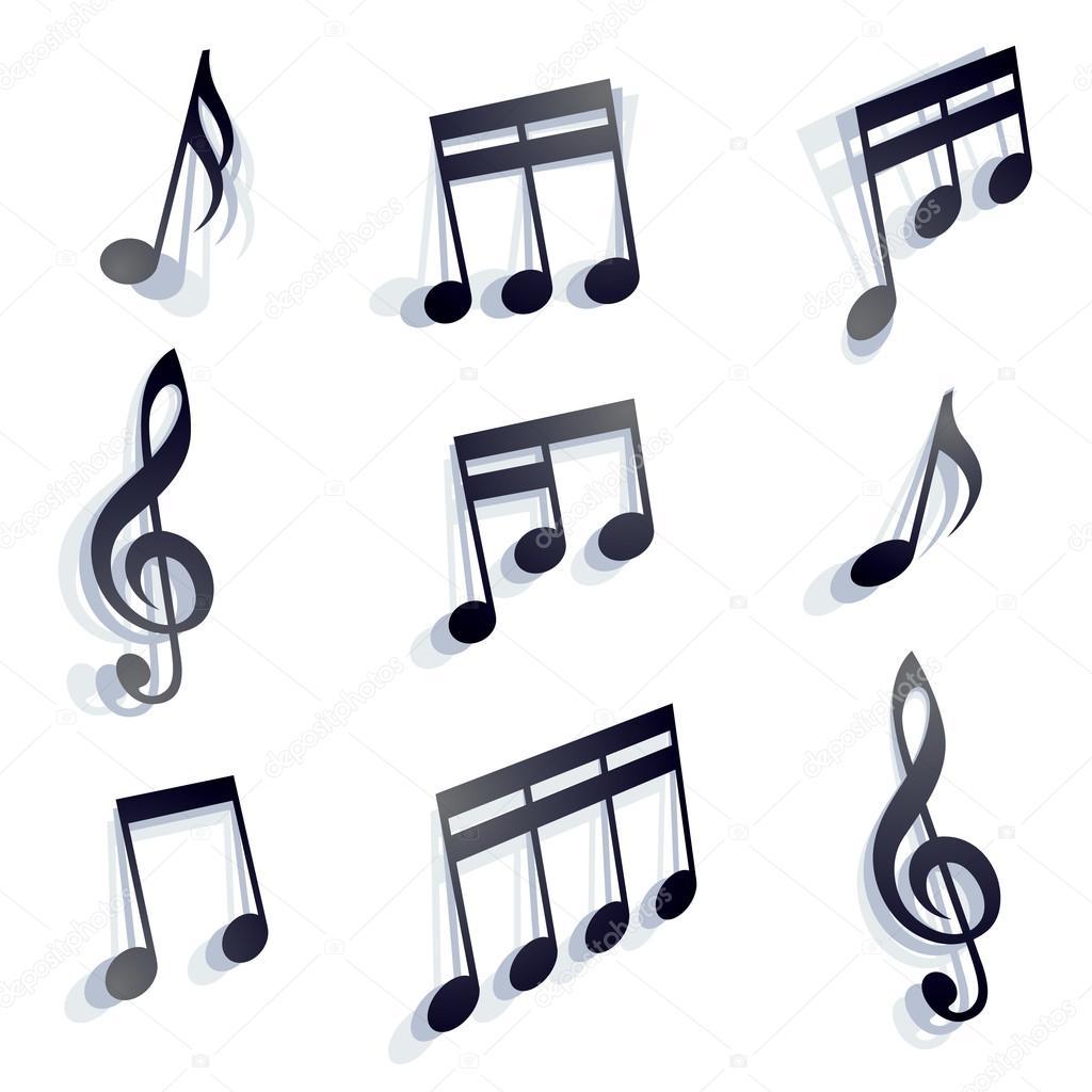 Conjunto De Notas Musicales Archivo Imágenes Vectoriales